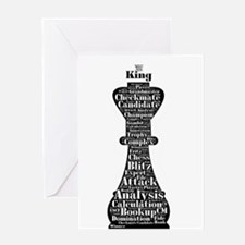 Chess Word Art Greeting Cards