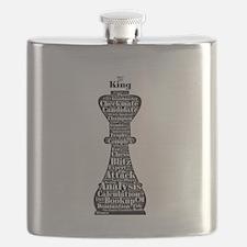 Chess Word Art Flask