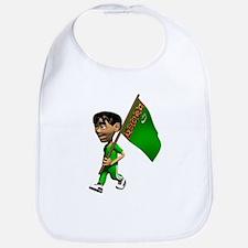 Cute 3D Turkmenistan Bib