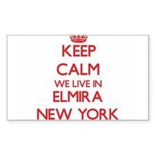 Keep calm we live in Elmira New York Decal