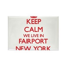 Keep calm we live in Fairport New York Magnets