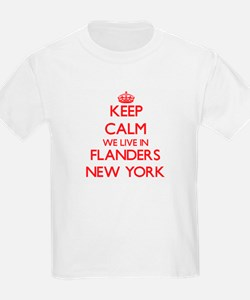 Keep calm we live in Flanders New York T-Shirt