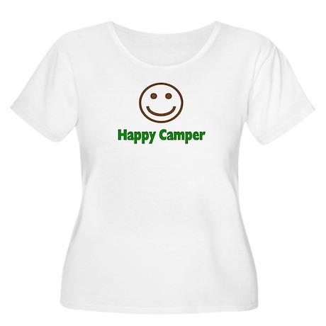 Happy Camper Women's Plus Size Scoop Neck T-Shirt