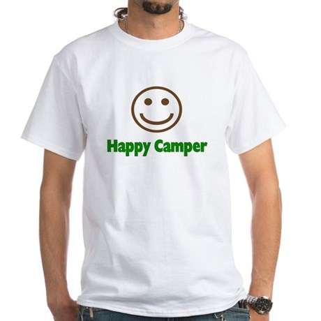 Happy Camper White T-Shirt