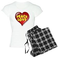 Peace Love Heart Pajamas