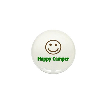 Happy Camper Mini Button (10 pack)
