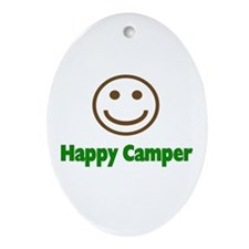 Happy Camper Oval Ornament