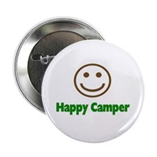 """Happy Camper 2.25"""" Button (10 pack)"""