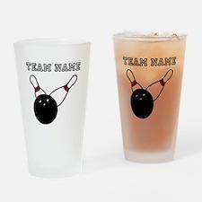 Split Pick Up Bowling Team Drinking Glass