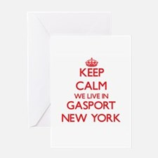 Keep calm we live in Gasport New Yo Greeting Cards