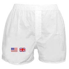 USA UK Flags for White Stuff Boxer Shorts