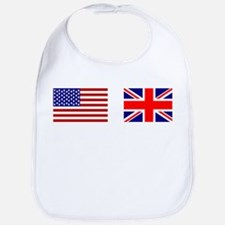 USA UK Flags for White Stuff Bib
