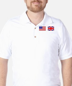 USA UK Flags for White Stuff T-Shirt