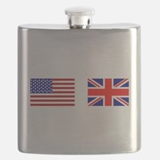 USA UK Flags for White Stuff Flask
