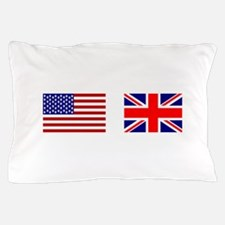 USA UK Flags for White Stuff Pillow Case