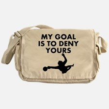 My Goal Is To Deny Yours Messenger Bag
