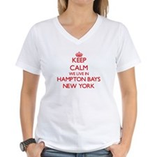 Keep calm we live in Hampton Bays New York T-Shirt