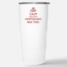 Keep calm we live in Ha Stainless Steel Travel Mug