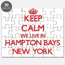 Keep calm we live in Hampton Bays New York Puzzle