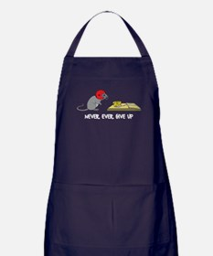 Never ever give up Apron (dark)