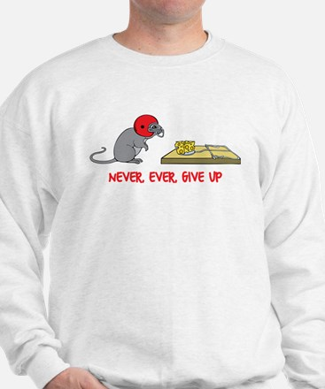Never ever give up Sudaderas