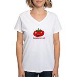 toonmato evil Women's V-Neck T-Shirt
