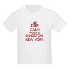 Keep calm we live in Kingston New York T-Shirt