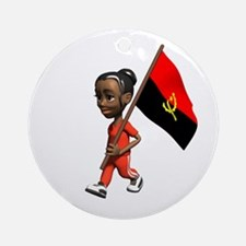 Angola Girl Ornament (Round)