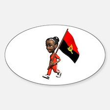 Angola Girl Oval Decal