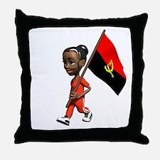 Angola Girl Throw Pillow