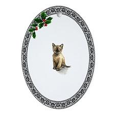Burmese Kitty Oval Ornament
