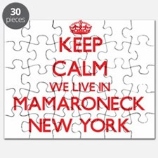 Keep calm we live in Mamaroneck New York Puzzle