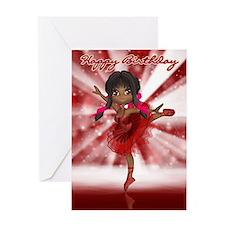 Cute Ballet Dancer Birthday Card Greeting Cards