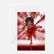 Cute Ballet Dancer Birthday Card Greeting Cards