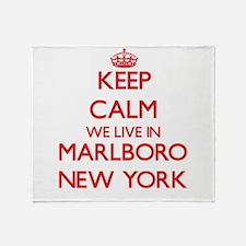 Keep calm we live in Marlboro New Yo Throw Blanket