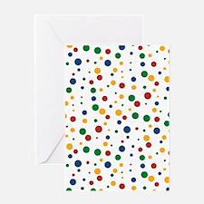Retro Clowny Dots Greeting Card
