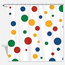Retro Clowny Dots Shower Curtain