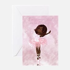 Ballet Dancer Birthday Card Greeting Cards