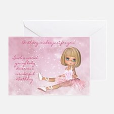 Ballerina Birthday Ballet Card Greeting Cards
