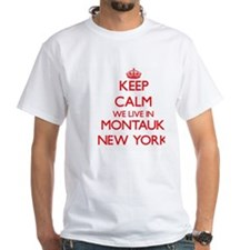 Keep calm we live in Montauk New York T-Shirt