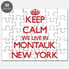 Keep calm we live in Montauk New York Puzzle