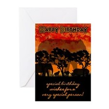 Elephant Silhouette Greeting Cards (pk Of 20)