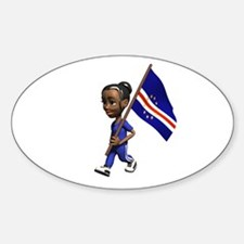 Cape Verde Girl Oval Decal