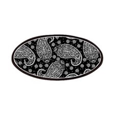 Black Paisley Pattern Patches