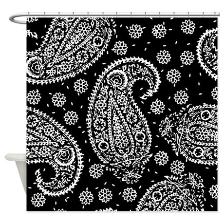 Black Paisley Shower Curtain By Artandornament