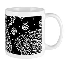 Black Paisley Mug