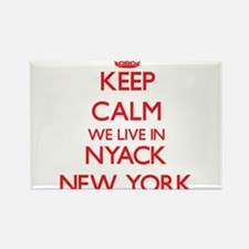 Keep calm we live in Nyack New York Magnets