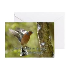 Chaffinch Bird Birthday Card Greeting Cards