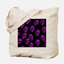 Purple SKULLS Tote Bag