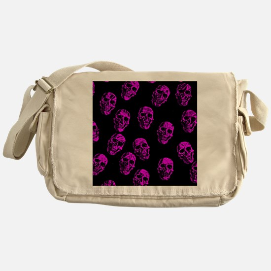 Purple SKULLS Messenger Bag